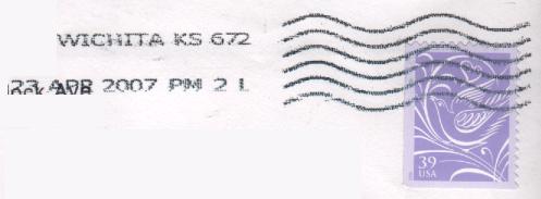 Sample Postmark Kansas City